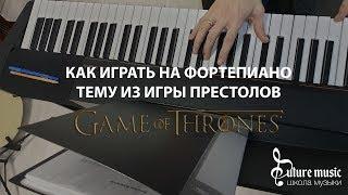 Как играть тему саундтрека из Игры престолов на фортепиано - урок