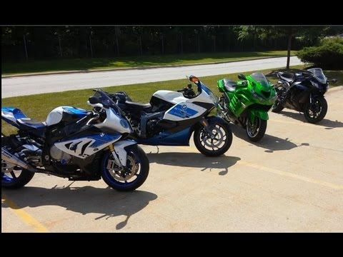2013 BMW HP4 vs 2011 Kawasaki ZX10R: Ultimate TOP SPEED RACING!