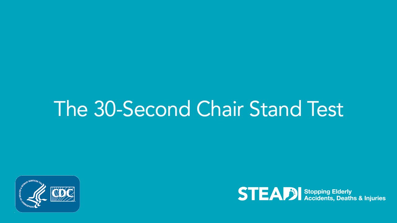 chair stand test measure swivel yeah 30 second youtube