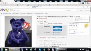 New Business Model found on Ebay Beanie Baby model