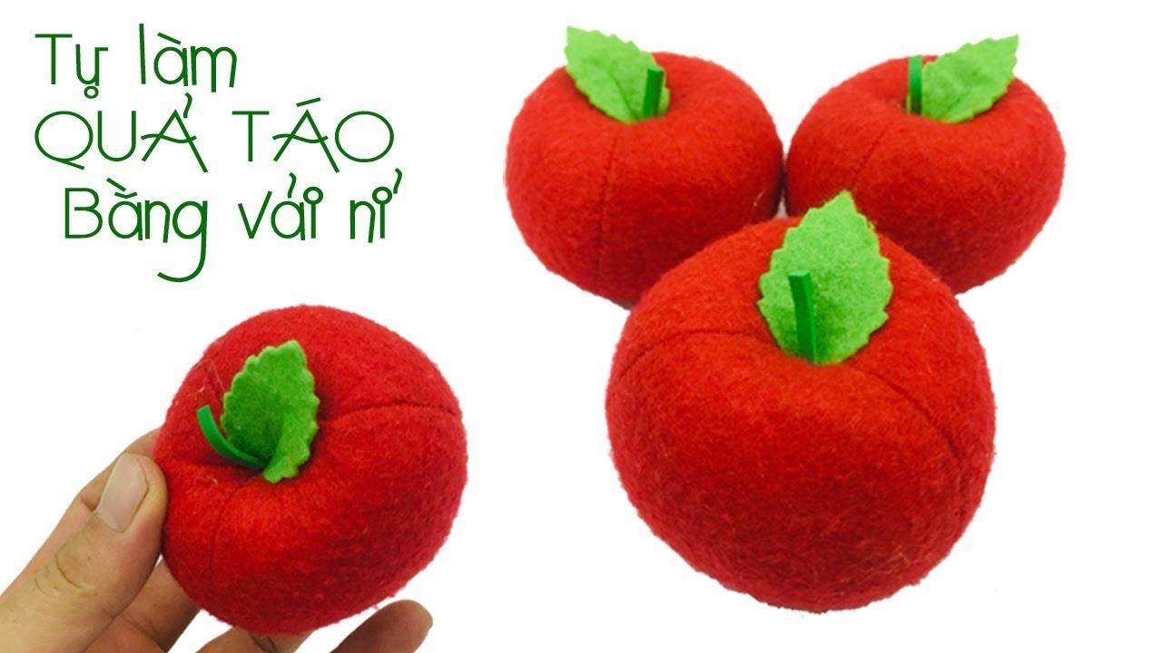 ĐẸP QUÁ..Hướng dẫn làm quả táo bằng vải nỉ | Cách làm quả táo vải nỉ ❀ Handmade LTT