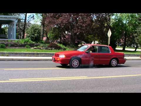 Dodge Spirit R/T Turbo Burns Out