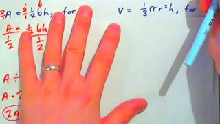 Solving Formulas  --  more than one inverse operation