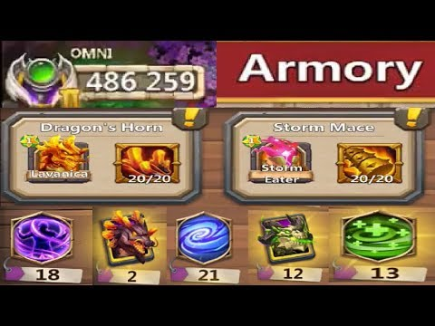 Rank 1 IOS 486,000 Might Warehouse + Armory Talents Traits Castle Clash