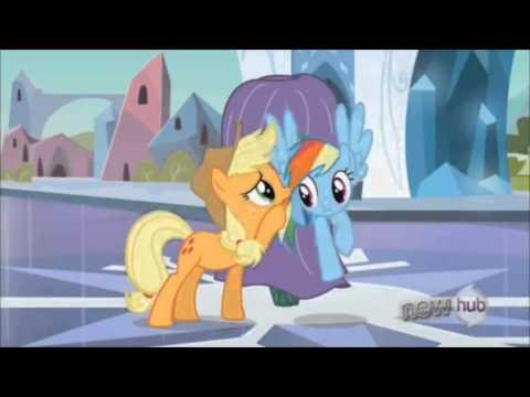 The Crystal Empire, Part 2 - Rainbow Dash Guarding The Fake Crystal Heart