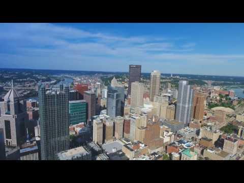 Downtown Pittsburgh Drone Video   Phantom 4 HD Drone Footage
