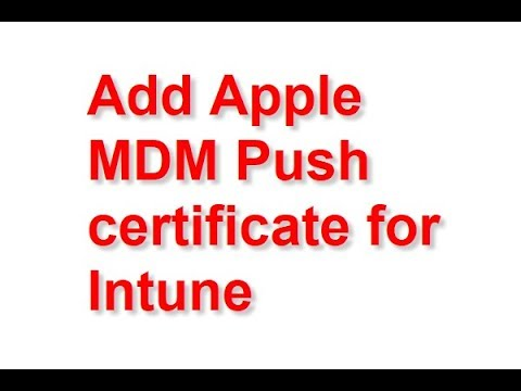 Apple Mdm Push Certificate Cisco Meraki