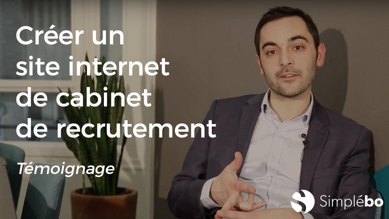 Recruteurs créez un site internet de cabinet de recrutement - Témoignage client Simplébo Julien L.
