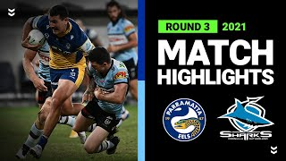 Sharks lose entire bench as Eels run away with win   Round 3, 2021   Match Highlights   NRL