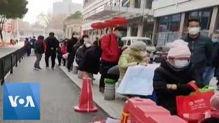 Long Lines Outside of Hospital in Coronavirus Epicenter Wuhan
