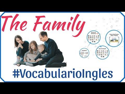 Vocabulario de la familia en inglés con imágenes - Miembros de la familia en inglés y español # 1
