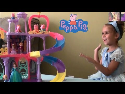 Peppa Pig Happy Family at Disney on Ice Story with Princess Cinderella, Ariel, Belle, Snow White