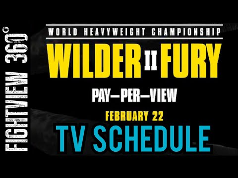 INSIDE & Countdown To Wilder Fury 2 FOX & ESPN TV Schedule RELEASED! NO Face/Off Face 2 Face?