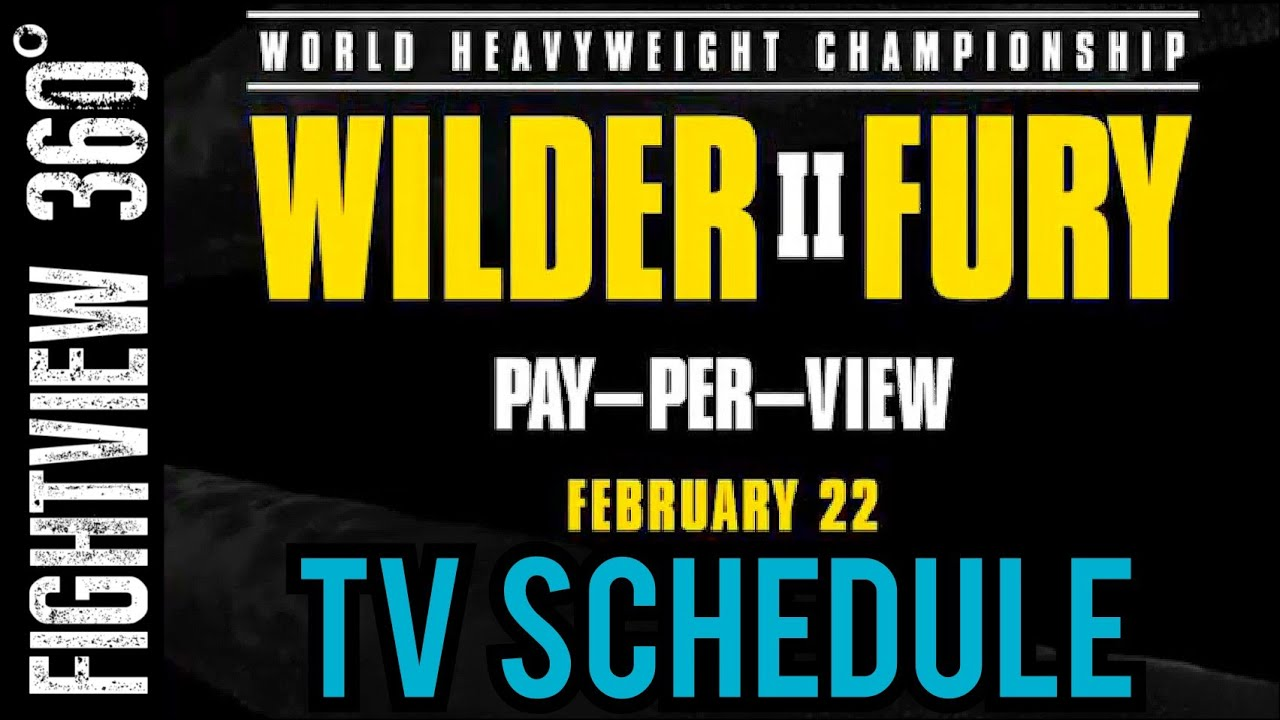 How to watch Wilder vs. Fury 2: Live stream, Preview, Date, Time ...