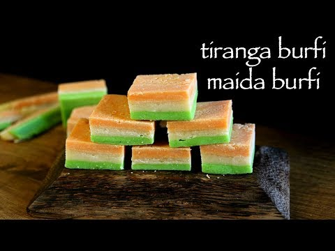 Maida Burfi Recipe - Maida Tiranga Burfi - Tiranga Burfi Recipe