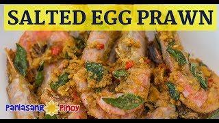 Salted Egg Yolk Prawn Recipe (Sugpo na may Itlog na Maalat)