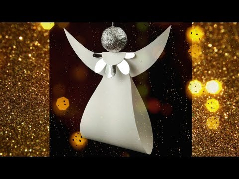 How to make christmas ornaments Origami angel paper craft tutorial. Art & crafts ideas homemade.