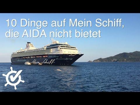 10 Dinge auf Mein Schiff, die AIDA nicht bietet