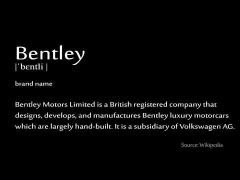 How to pronounce - Bentley