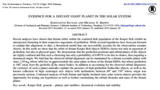 Breaking - 99.993% Chance of Giant Planet in the Solar System - Caltech - New Documents