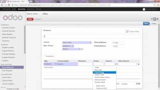 Accounting   -   Register a Full Payment from a Bank Statement in odoo