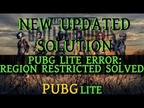 Updated Pubg Lite Error Region Restricted Solved No Root No Dns