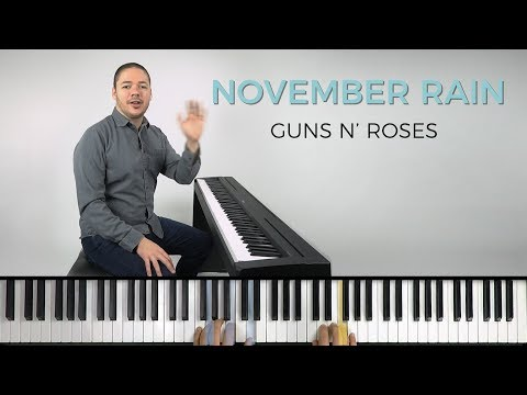 How to play 'NOVEMBER RAIN' by Guns N' Roses on the piano — Playground Sessions