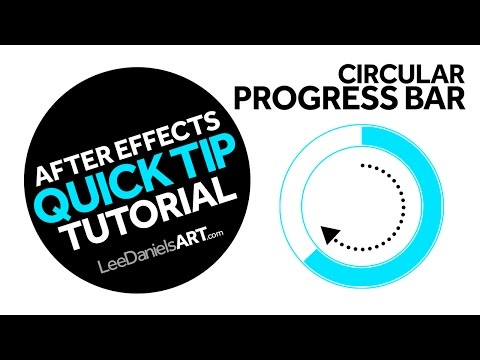 After Effects Tutorial | QUICK TIP | Circular Progress Bars