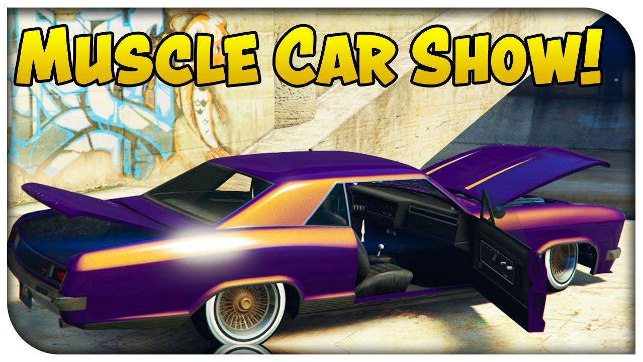 Gta 5 Online Muscle Car Car Show Gta V Youtube