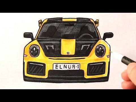 Как нарисовать Машину Порше | Porsche рисунок