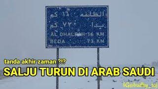 SALJU DI ARAB SAUDI 2020 : TABUK SAUDI ARABIA SNOW