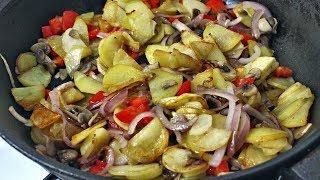 Жареная картошка| Картошка с грибами | Картошка на сковороде
