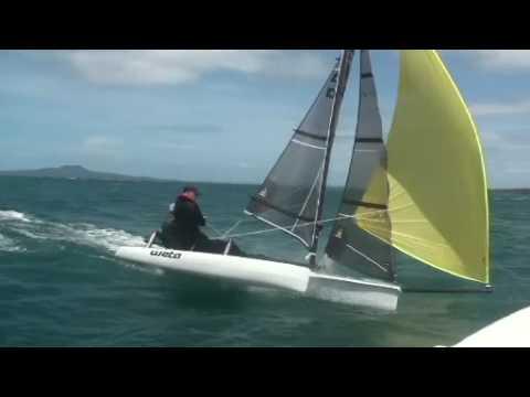 WETA Trimaran: Everything Weta - Racing, Family sailing, rigging. The ultimate fun boat. New Zealand November 2008