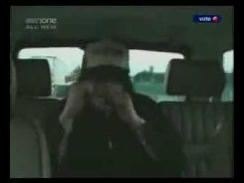 Michael Jackson dancing in the car