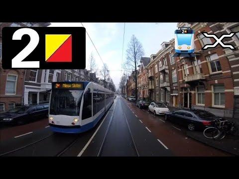 🚋 GVB Amsterdam Tramlijn 2 Cabinerit Nieuw Sloten - Centraal Station Driver