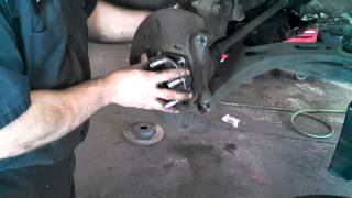 front wheel bearing hub assembly subaru outback 2005 2014 legacy install remove replace how to