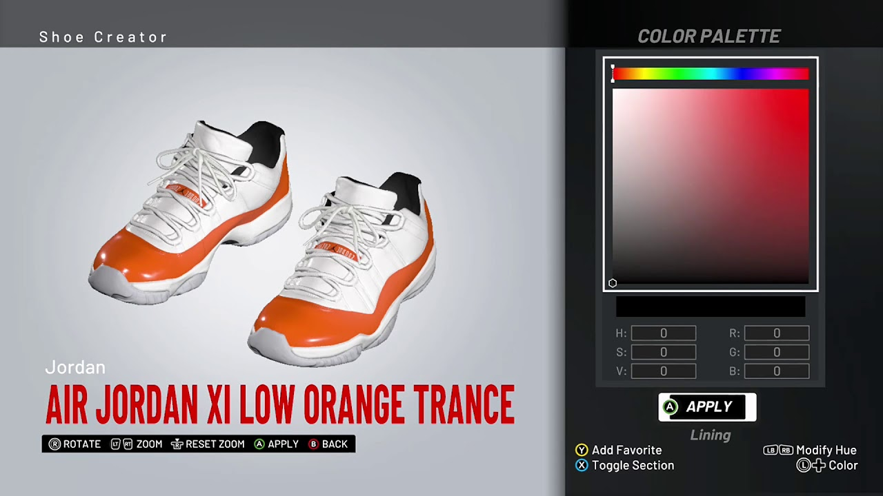 air jordan 11 orange trance
