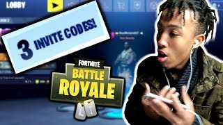 3 MORE FORTNITE MOBILE INVITE CODES!!! *GIVEAWAY*