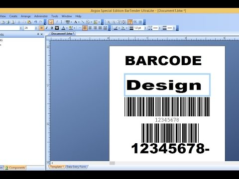 Barcode Sticker Design with Bar Tender Software Step by Step