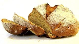 Пшенично-ржаной хлеб за один час.  Без дрожжей.