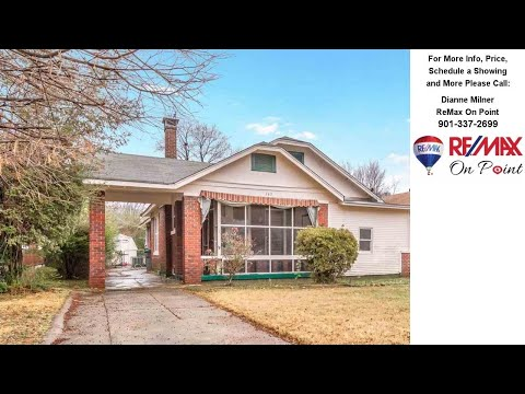 740 N AVALON, Memphis, TN Presented by Dianne Milner.