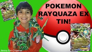 Pokemon Rayquaza EX Power Beyond Tin Opening! Jenna Em Channel