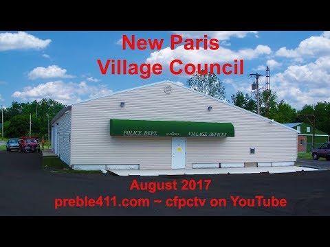 New Paris, Ohio Village Council