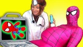 Розовый Человек паук потолстел  Новый Человек паук  Смотреть новые серии паука 720p