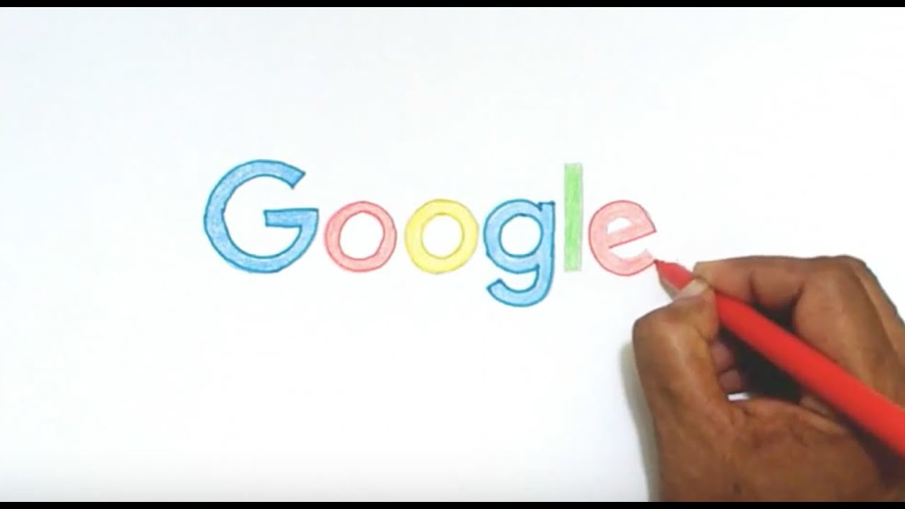 How To Draw The New Google Logo Youtube