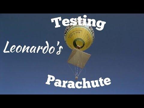 🔴Testing Leonardo da Vinci's Parachute.