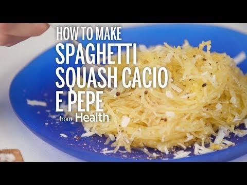 How To Make Spaghetti Squash Cacio e Pepe | Health