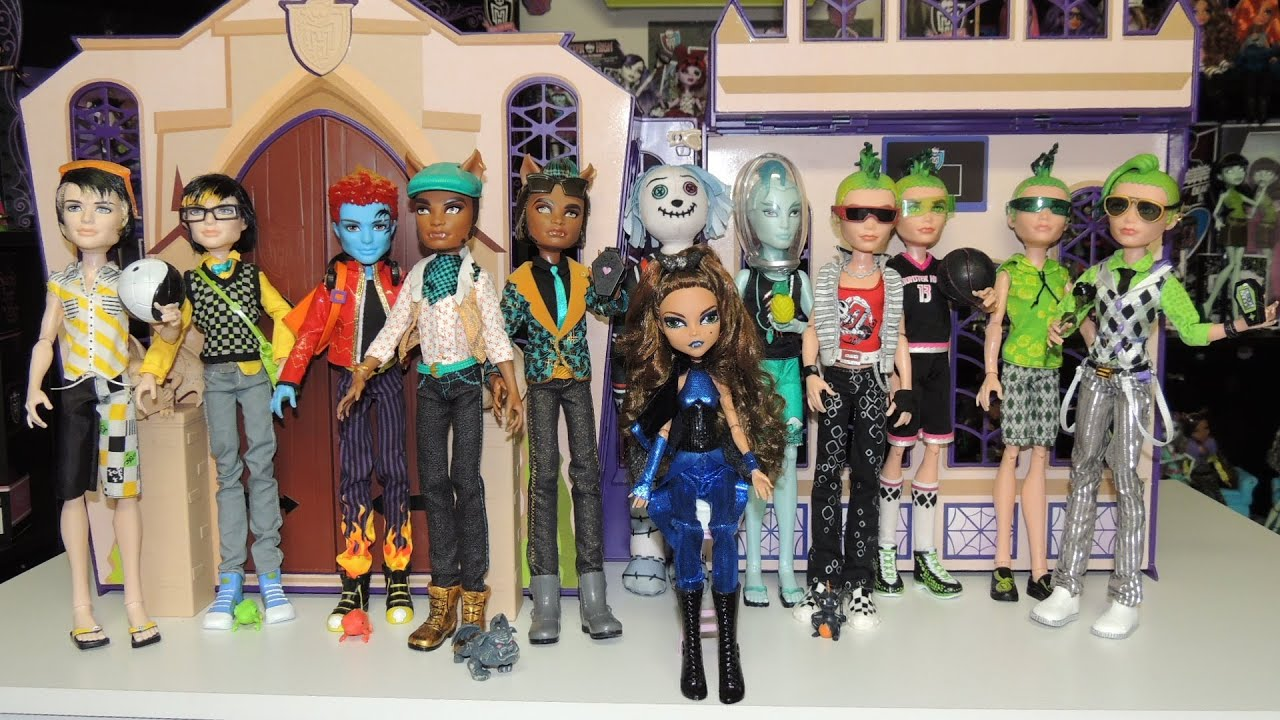 Monster High Boys Doll Collection By WookieWarrior23  YouTube