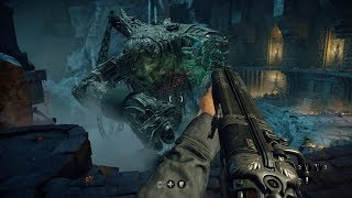 Amazing Boss Fight from Wolfenstein The Old Blood WW2 FPS Game