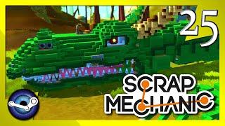 building a humongous green dragon scrap mechanic ep25